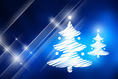 Christmas trees with blue background. Stock Photography