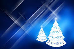 Christmas trees with blue background. Royalty Free Stock Photography