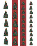 Christmas trees borders Stock Photography