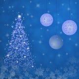 Christmas time - tree and bowls Stock Photos