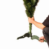 Christmas trees. Building artificial Christmas trees the details Royalty Free Stock Photos