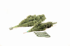 Christmas trees. Building artificial Christmas trees the details Royalty Free Stock Photography