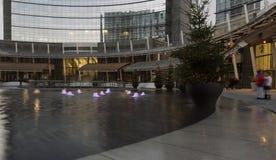Christmas trees  at business hub, Milan Royalty Free Stock Photos