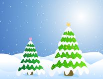 Christmas trees / Card Stock Image