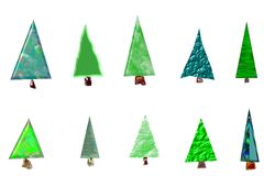 Christmas trees card Royalty Free Stock Photo