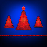 Christmas trees card template. EPS 8 Royalty Free Stock Images