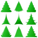 Christmas trees collection Royalty Free Stock Image