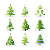 Christmas Trees Collection vector illustration