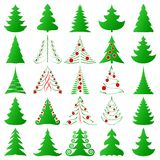 Christmas trees collection Stock Photo