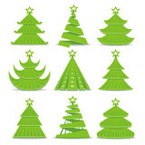 Christmas trees collection. Vector Christmas trees collection on white Stock Photography