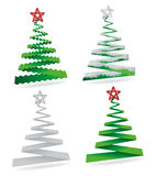 Christmas trees collection. Elegant symbolic Christmas trees collection Royalty Free Stock Photo