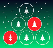 Christmas trees collection Royalty Free Stock Photography