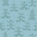 Christmas Trees Collection Pattern Stock Photos