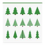 Christmas trees collection. Set of fir trees. Vector illustration Royalty Free Stock Images