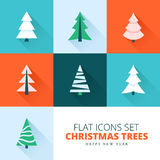 Christmas trees collection Royalty Free Stock Photo