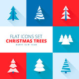 Christmas trees collection. Vector set of fir trees / pines / spruces Stock Photo