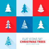 Christmas trees collection. Vector set of fir trees / pines / spruces Royalty Free Stock Images