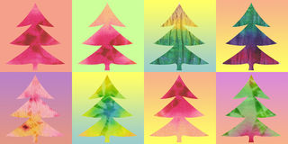 Christmas trees color background Royalty Free Stock Image
