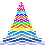 Christmas trees  of color Royalty Free Stock Images