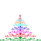 Christmas trees  of color Royalty Free Stock Photos