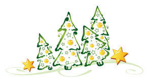 Christmas trees Royalty Free Stock Photo