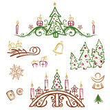 Christmas, trees Stock Images