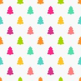 Christmas trees colors seamless pattern. Vector illustration Stock Image