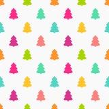 Christmas trees colors seamless pattern. Vector illustration stock illustration
