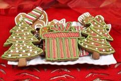 Christmas trees cookies Stock Photos