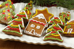 Christmas trees cookies Royalty Free Stock Photography