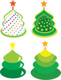 Christmas trees. Elements for design. Four Christmas trees. Elements for design Royalty Free Stock Photo