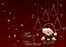 Christmas trees and elf Stock Image