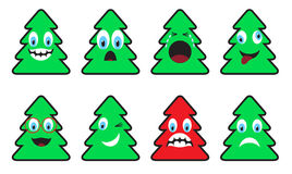 Christmas trees-emotions Stock Photos