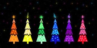 Christmas Trees Royalty Free Stock Photos