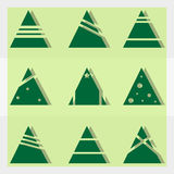 Christmas trees. Flat icons of christmas trees Royalty Free Stock Photos
