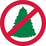 Christmas trees forbidden. Xmas vector Royalty Free Stock Image