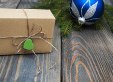 Christmas trees with  gift box Stock Photo