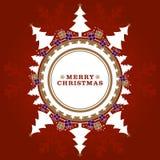 Christmas Trees & Gift Boxes Royalty Free Stock Photo