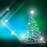 Christmas trees with green background. Royalty Free Stock Photography