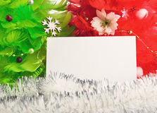 Christmas trees with greeting cards Royalty Free Stock Photo