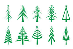 Christmas trees icon Royalty Free Stock Images