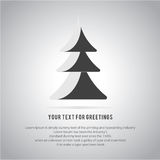 Christmas trees  icon set for greeting. Background Royalty Free Stock Photo