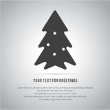 Christmas trees  icon set for greeting Royalty Free Stock Image