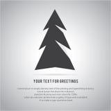 Christmas trees  icon set for greeting Royalty Free Stock Photos