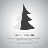 christmas trees  icon set for greeting Stock Image