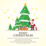 Christmas trees  icon set for greeting Royalty Free Stock Photo