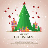 Christmas trees  icon set for greeting. Story of christmas Royalty Free Stock Image