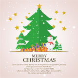 Christmas trees  icon set for greeting. Story of christmas Royalty Free Stock Images