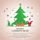 Christmas trees  icon set for greeting Stock Photography