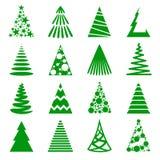 Christmas trees icon set. Set of Christmas trees icons isolated on white background. Vector illustration Royalty Free Stock Photos